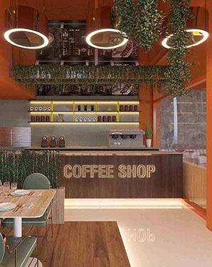 modern cafe tasarımları