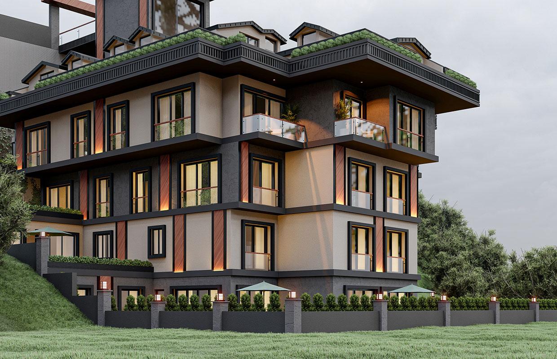 apartman cephe tasarımları